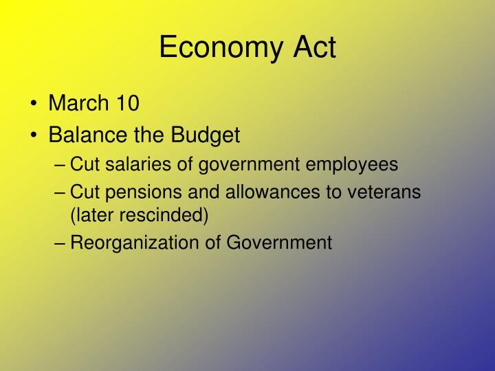 Economy Act