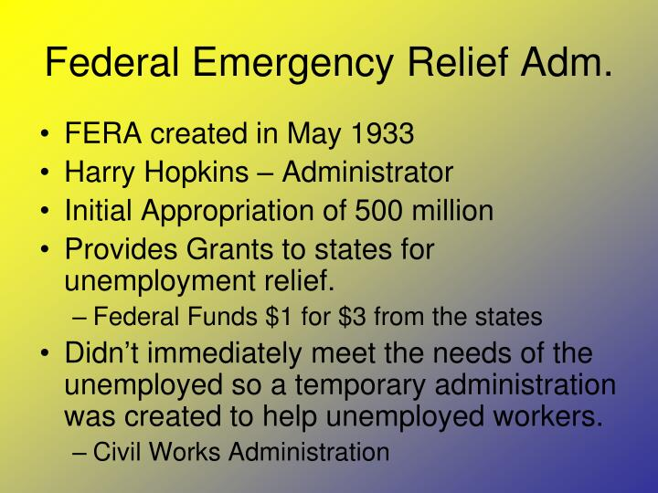 Federal Emergency Relief Adm.