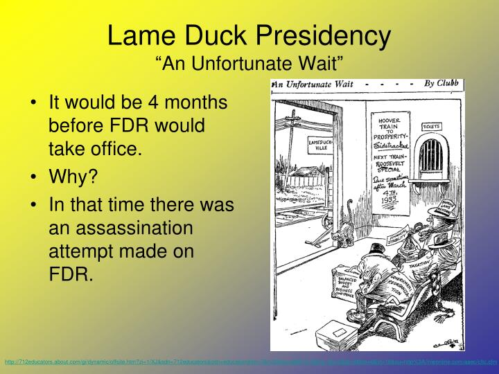 Lame Duck Presidency