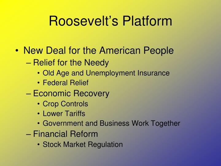 Roosevelt's Platform