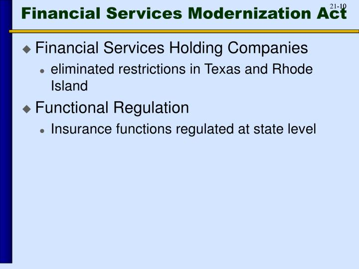 Financial Services Modernization Act