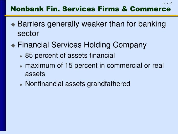 Nonbank Fin. Services Firms & Commerce