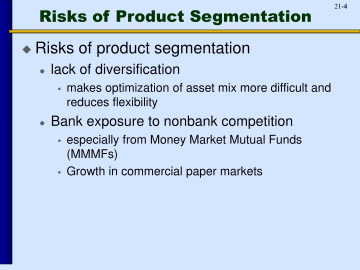 Risks of Product Segmentation