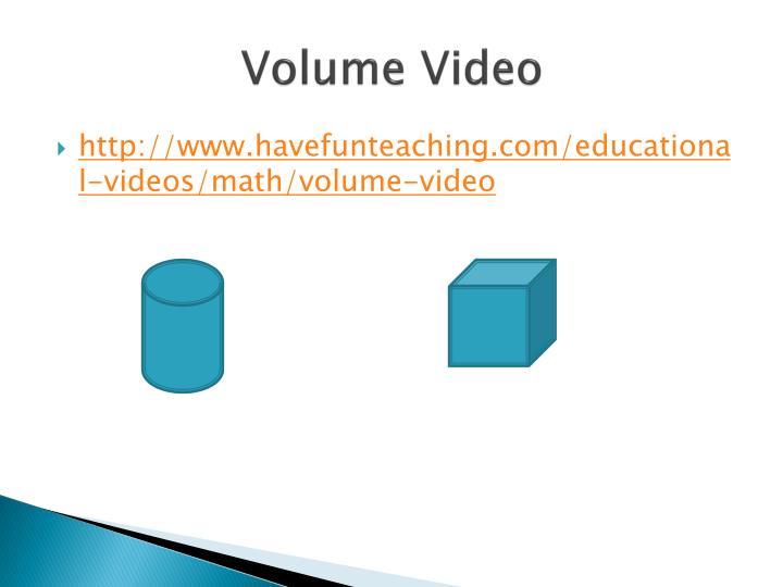 Volume Video