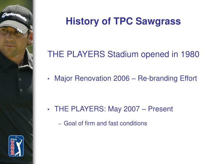 History of TPC Sawgrass