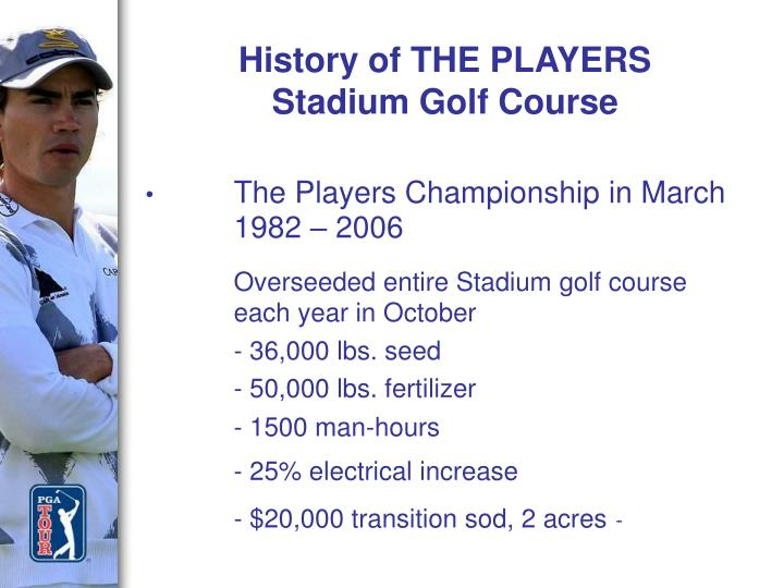 History of THE PLAYERS Stadium Golf Course