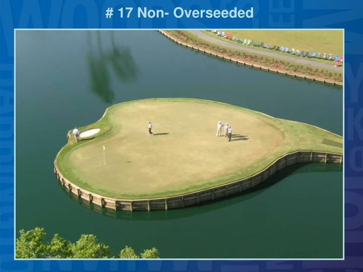 # 17 Non- Overseeded