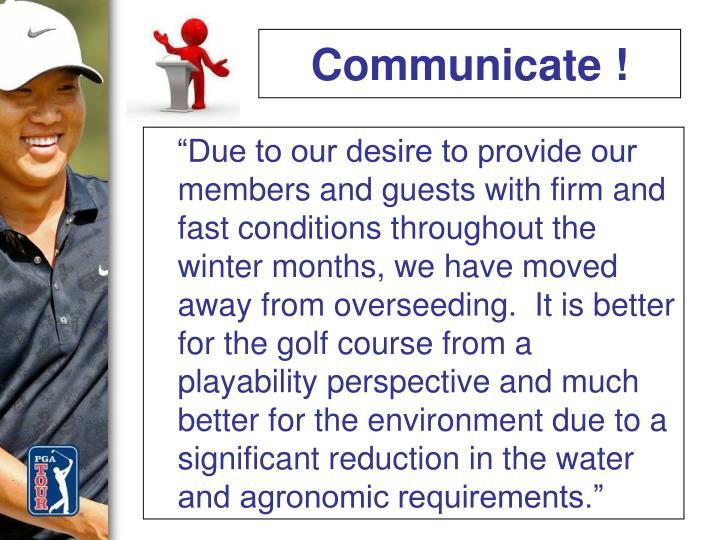 Communicate !