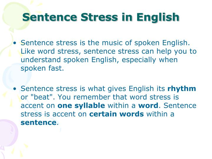 Sentence Stress in English