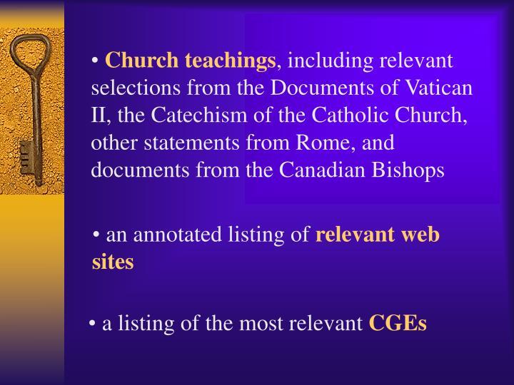 Church teachings