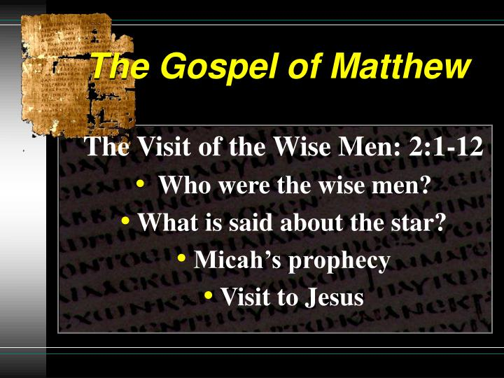 The gospel of matthew1