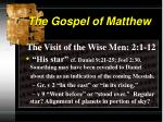the gospel of matthew3