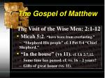 the gospel of matthew4