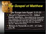 the gospel of matthew7