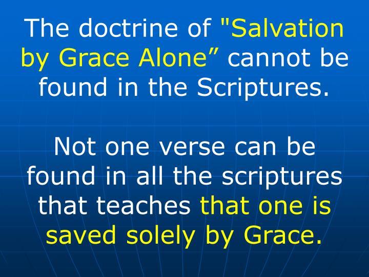 The doctrine of