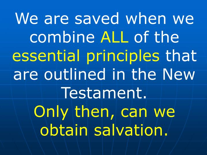 We are saved when we combine