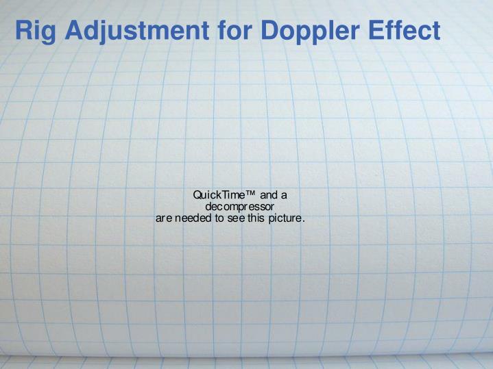 Rig Adjustment for Doppler Effect