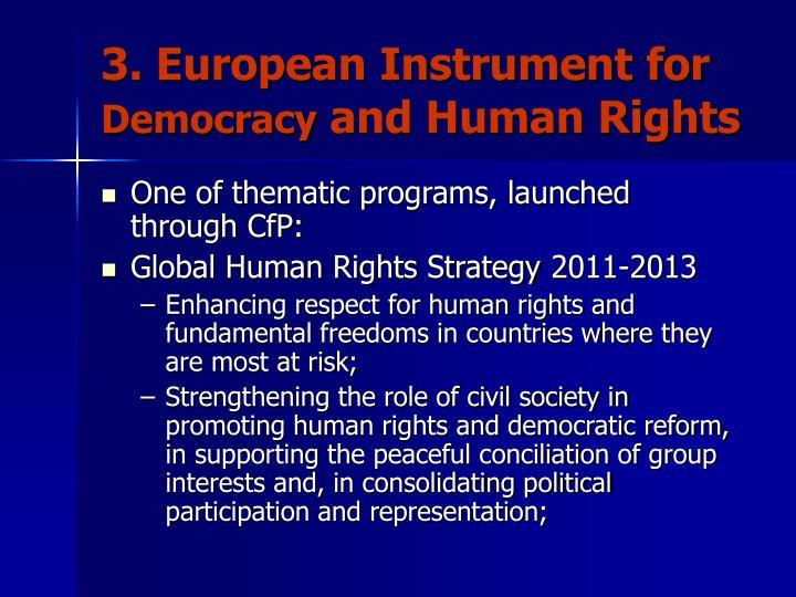 3. European Instrument for