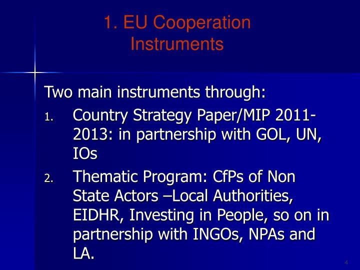1. EU Cooperation Instruments
