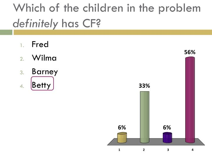 Which of the children in the problem