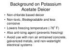 background on potassium acetate deicer
