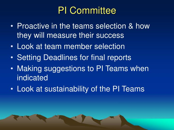 PI Committee