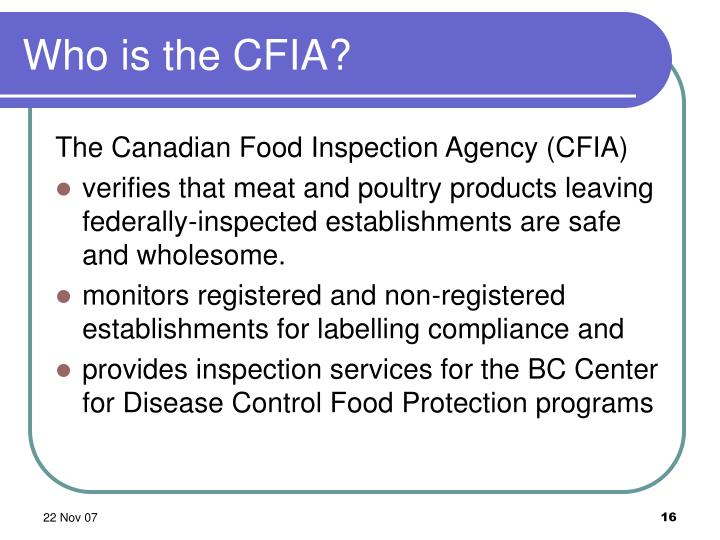 Who is the CFIA?