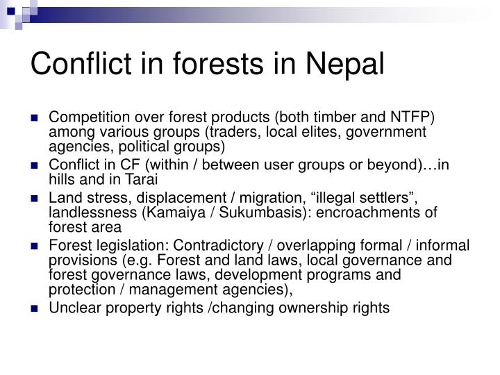 Conflict in forests in Nepal