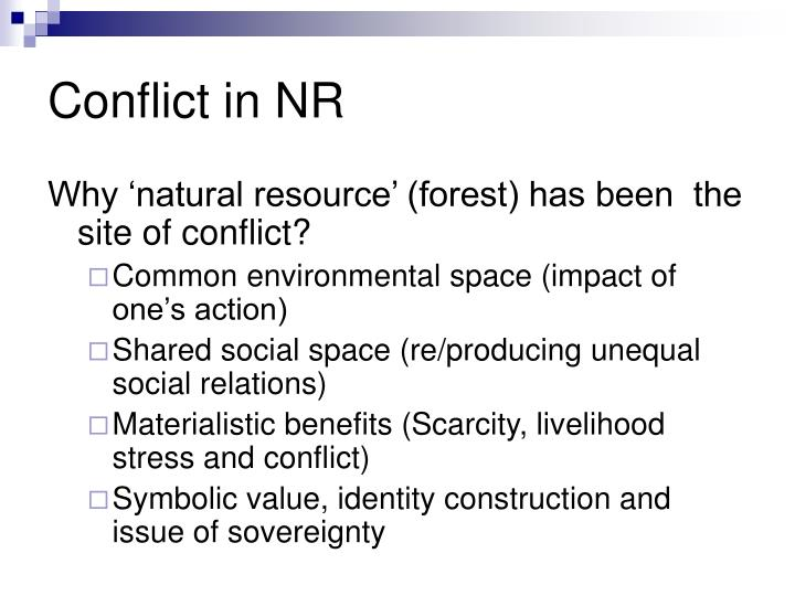Conflict in NR