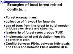 examples of local forest related conflicts1