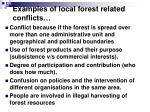 examples of local forest related conflicts2