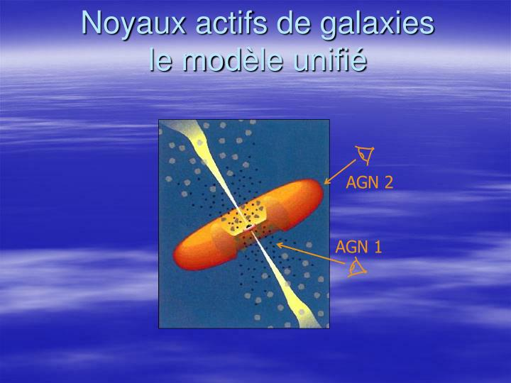 Noyaux actifs de galaxies