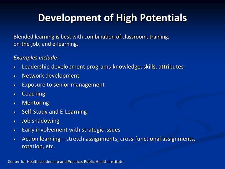 Development of High Potentials