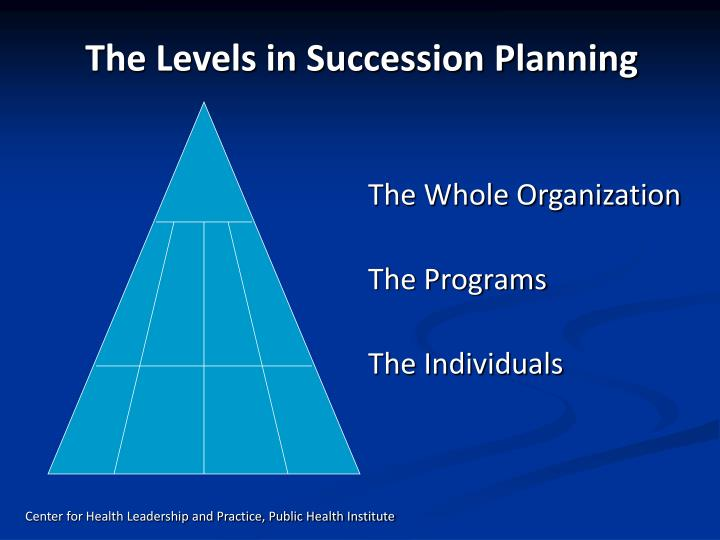 The Levels in Succession Planning