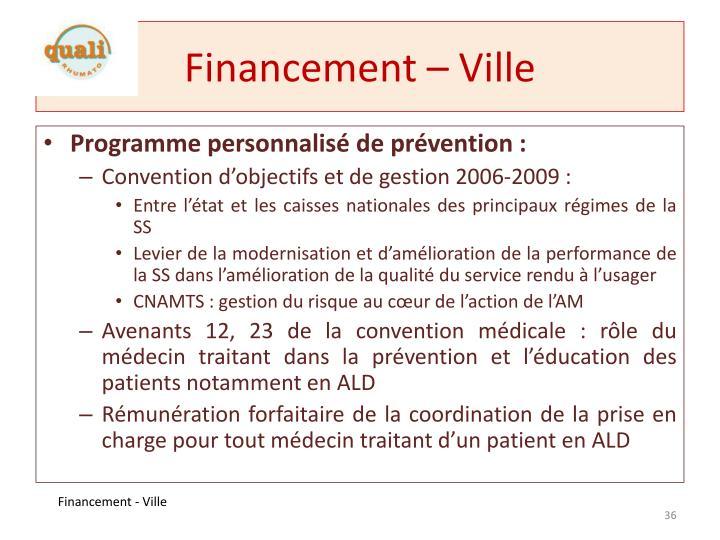 Financement – Ville