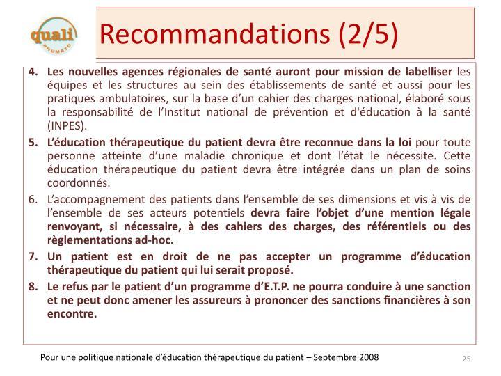 Recommandations (2/5)