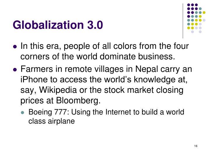 Globalization 3.0