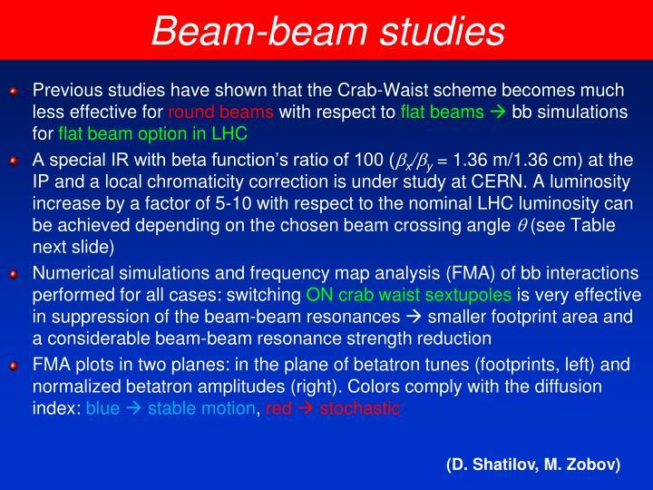 Beam-beam studies