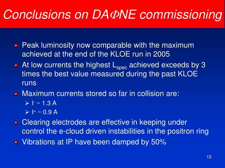 Conclusions on DA