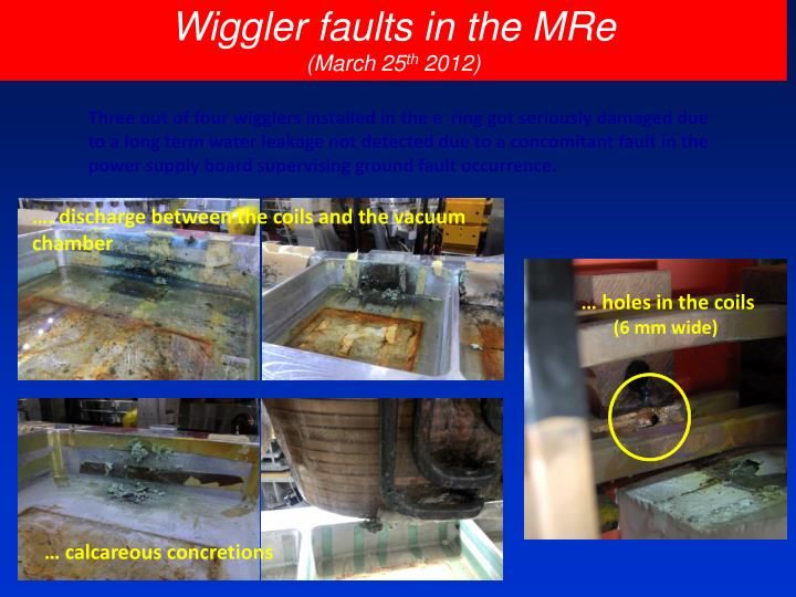 Wiggler faults in the