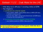 subtask 11 2 2 crab waist for the lhc