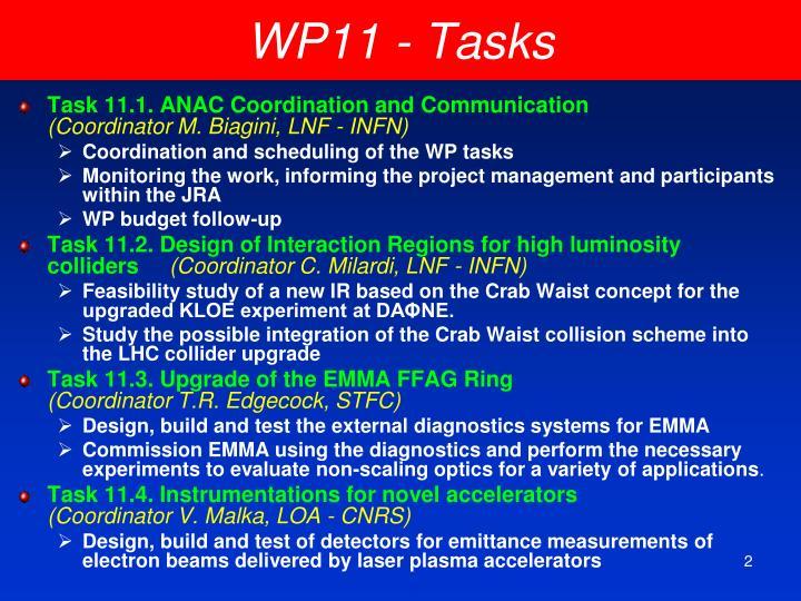 WP11 - Tasks