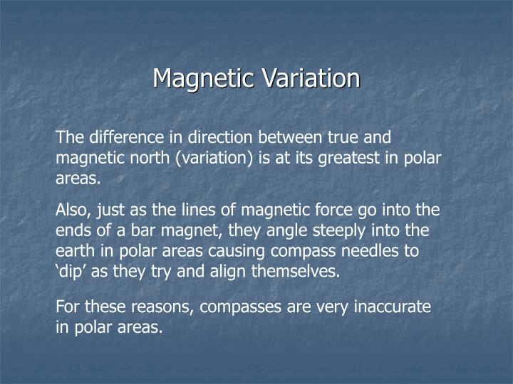 Magnetic Variation
