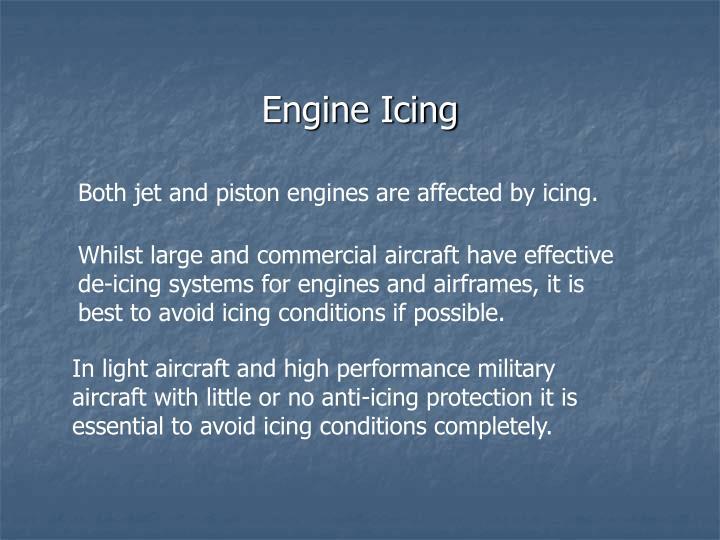 Engine Icing