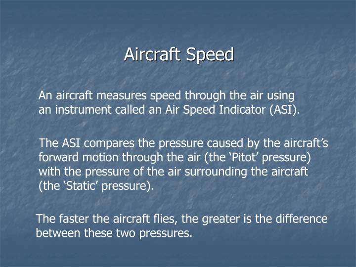 Aircraft Speed