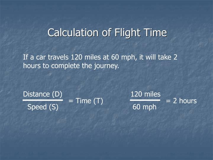 Calculation of Flight Time
