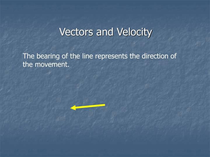 Vectors and Velocity
