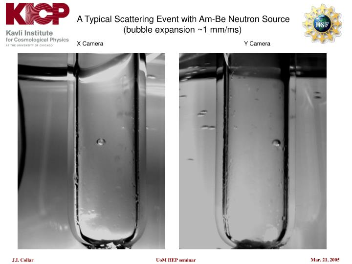 A Typical Scattering Event with Am-Be Neutron Source