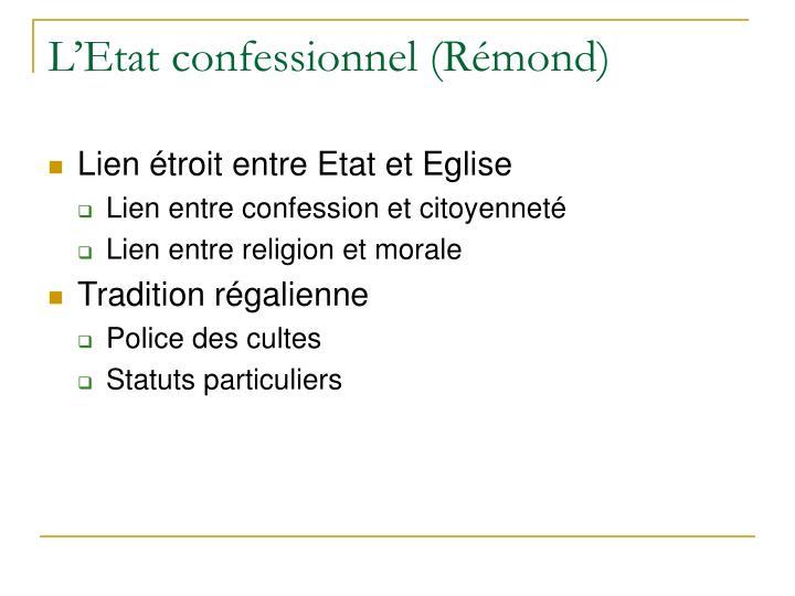 L'Etat confessionnel (Rémond)