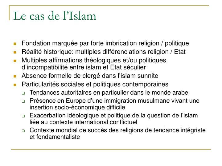 Le cas de l'Islam